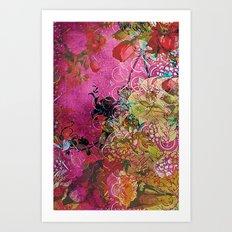 Silk Pink Floral Art Print