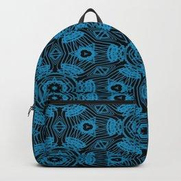 Black and Blue String Art 4406 Backpack