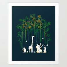Re-paint the Forest Art Print