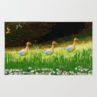 ducks Area & Throw Rugs featuring Ducks by Raffaella315