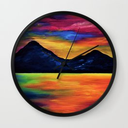 Tropical Sunset at Murlough Wall Clock