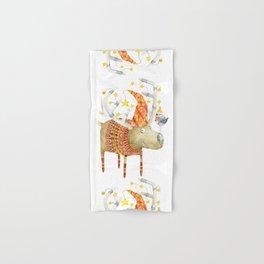 Christmas Reindeer watercolour art Hand & Bath Towel