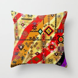old collage Throw Pillow