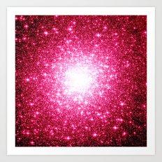 Stars Hot Pink Art Print