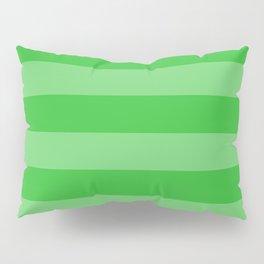 Grass Green Thick Horizontal Stripes Pillow Sham