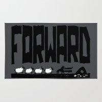 onward Area & Throw Rugs featuring Forward by TehStr4ngeOnes