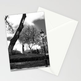 Cloudy day in the park Stationery Cards