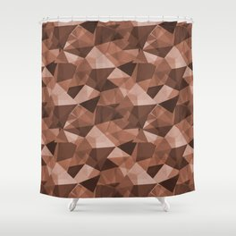Abstract Polygon Sherwin Williams' Color of the Year for 2019, Cavern Clay SW7701 Cubism Triangle 4 Shower Curtain