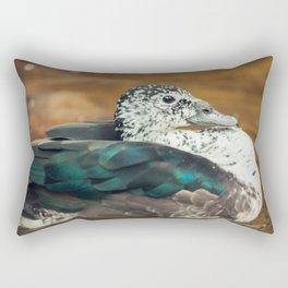 Knob-billed Duck Rectangular Pillow