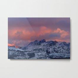 """Alayos Mountains"". Red sunset. Sierra Nevada Metal Print"