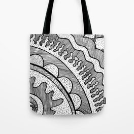 Lines & Dots Tote Bag