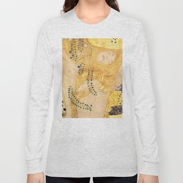 Water Serpents - Gustav Klimt Long Sleeve T-shirt
