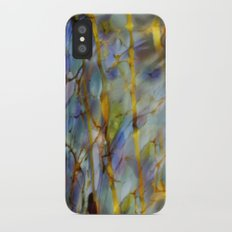 Abstract Blue iPhone X Slim Case