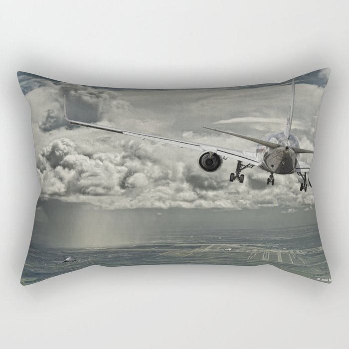 Stormy approach Rectangular Pillow