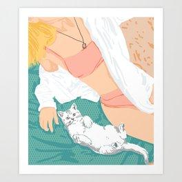 Weekend Getaway #illustration #painting Art Print