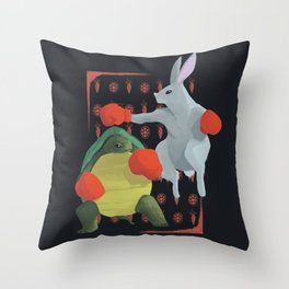 Tortoise & Hare   RED Throw Pillow