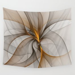 Elegant Chaos, Abstract Fractal Art Wall Tapestry