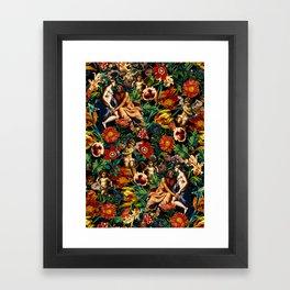 HERA and ZEUS Garden Framed Art Print
