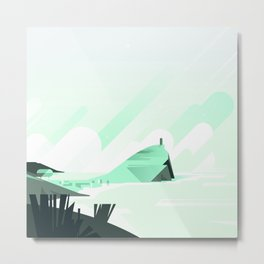 Beach City Metal Print