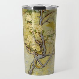 Small pear tree in blossom by Vincent Van Gogh Travel Mug