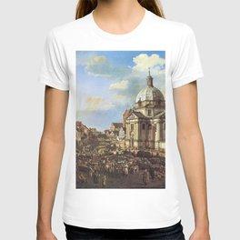 Bernardo Bellotto - The New Town Market Square with St Kazimierz Church T-shirt