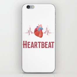 Heartbeat Heart Muscle Life Blood EKG Doctor Gift iPhone Skin
