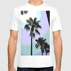 The Palms  MEDIUM White Mens Fitted Tee