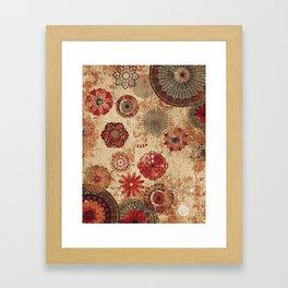 Bohemian Floral Moroccan Style Design Framed Art Print