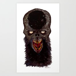 Heads of the Living Dead Zombies: Cossack Zombie Art Print
