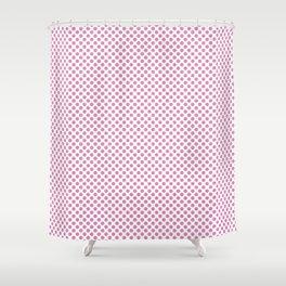 Fuchsia Pink Polka Dots Shower Curtain