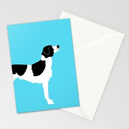 English Springer Spaniel Dog in Black and white color Stationery Cards