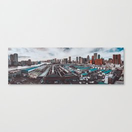 Tsukiji Fish Market Panorama 2009 Canvas Print