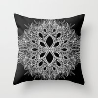 plants Throw Pillows featuring plants by Ichsjah