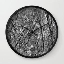 Central Black Wall Clock