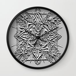Divine Intention 6: Black & White Wall Clock