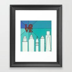 LOVE shine Framed Art Print