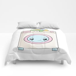 Kawaii Washing machine Comforters