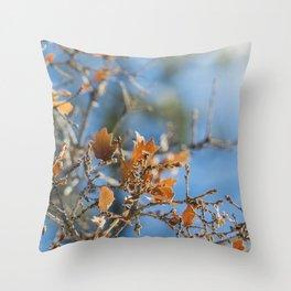 Invierno calido Throw Pillow