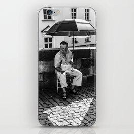 Umbrella Man iPhone Skin