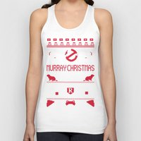 murray Tank Tops featuring Murray Christmas (2013) by Derek Eads