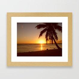 Cook Islands sunset Framed Art Print