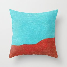 Emerald sea and red rock mountain_ Sinai, Egypt in 2018  Throw Pillow
