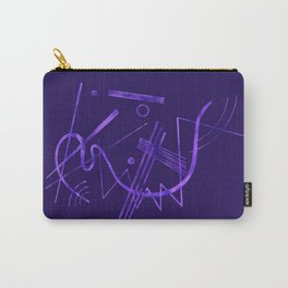 Kandinsky - Purple Abstract Art Carry-All Pouch