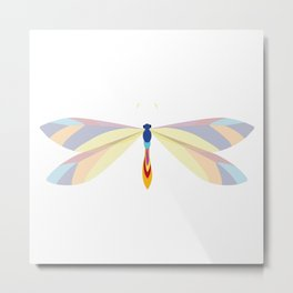 Colorful Dragonfly Metal Print