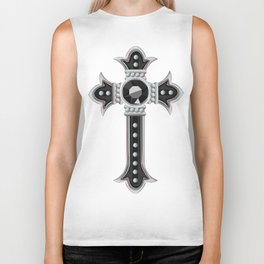 Classical Vintage Gothic Cross Biker Tank