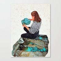 turquoise Canvas Prints featuring TURQUOISE by Beth Hoeckel
