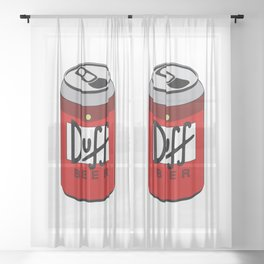 Duff Beer Can Sheer Curtain