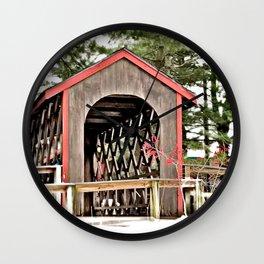 Covered Bridge Photography Wall Clock