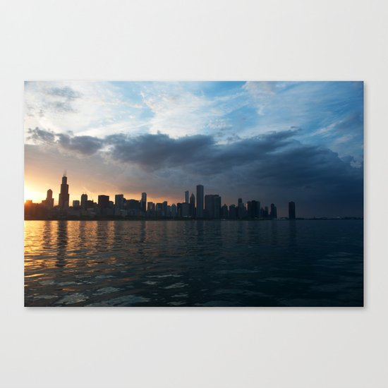 Dusk Over Chicago Canvas Print
