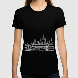 fabulous city . art . black and white T-shirt